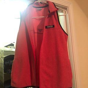 Pink and Navy Columbia vest